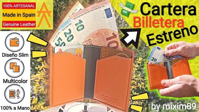 """Cartera Billetera de Piel Artesanal para Hombre """"Hecha a Mano"""" Fabricación Española by mixim89"""