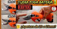 Como configurar la apertura de las cuchillas en las tijeras de poda a bateria Kebtek by mixim89