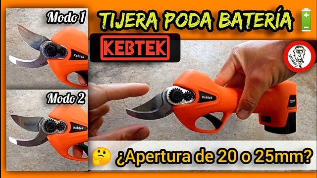 """Tijeras de Poda a Batería """"Kebtek"""" Como Configurar Apertura de Cuchillas ¿20 o 25mm? by mixim89"""